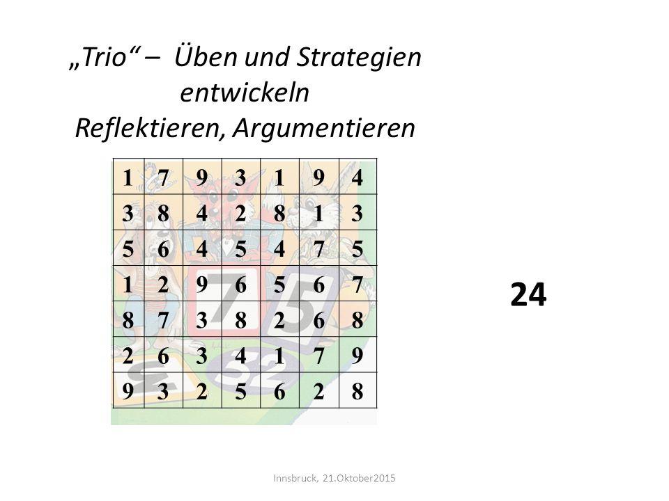 """24 """"Trio – Üben und Strategien entwickeln Reflektieren, Argumentieren"""