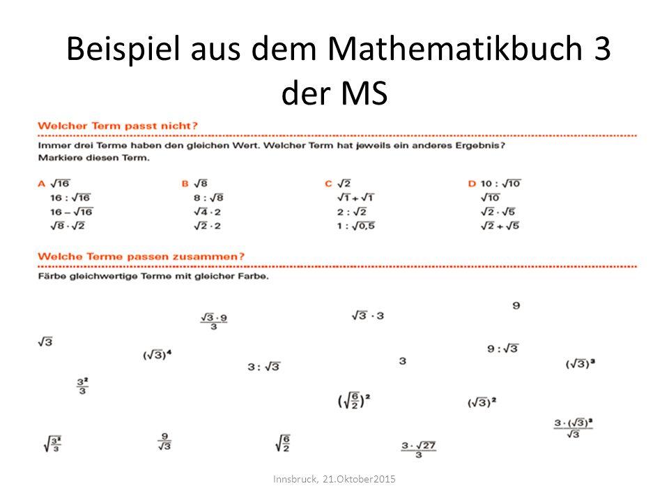 Beispiel aus dem Mathematikbuch 3 der MS