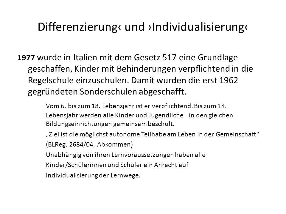Differenzierung‹ und ›Individualisierung‹