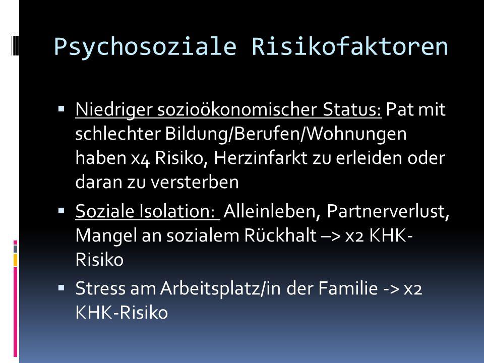 Psychosoziale Risikofaktoren