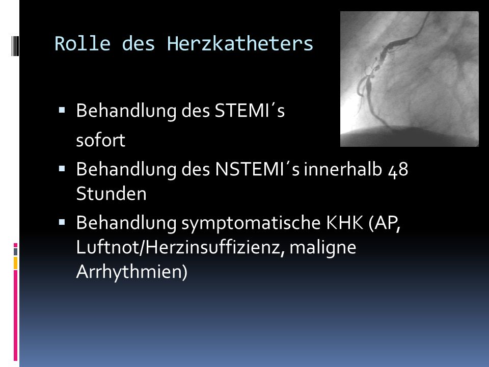 Rolle des Herzkatheters