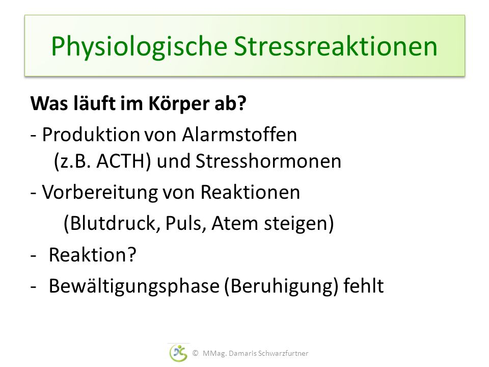 Physiologische Stressreaktionen