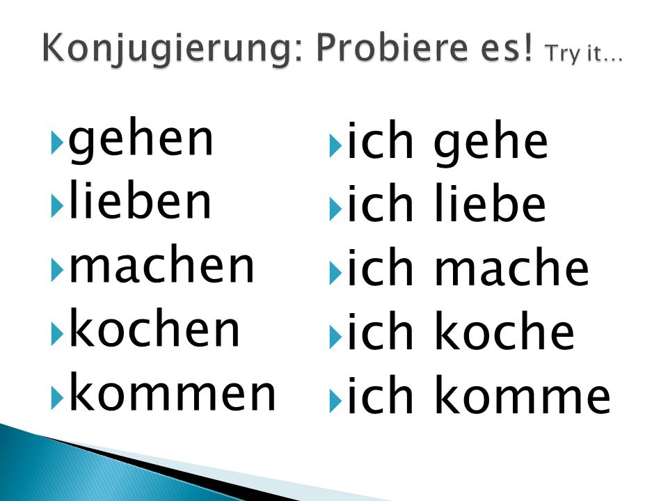 Konjugierung: Probiere es! Try it…