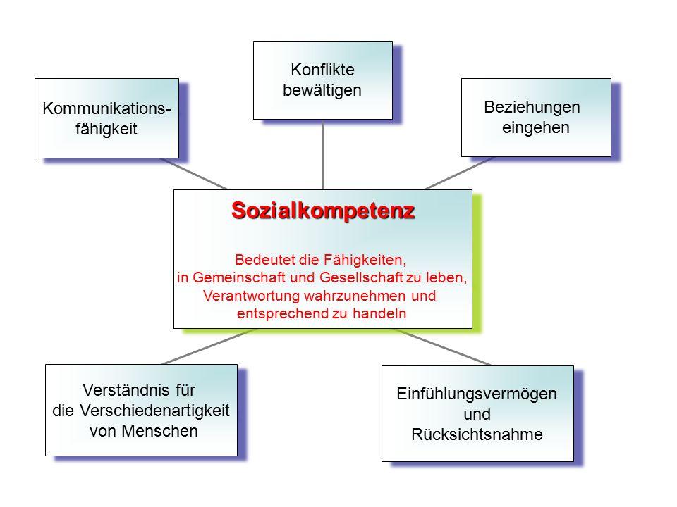 Sozialkompetenz Kommunikations- fähigkeit Verständnis für