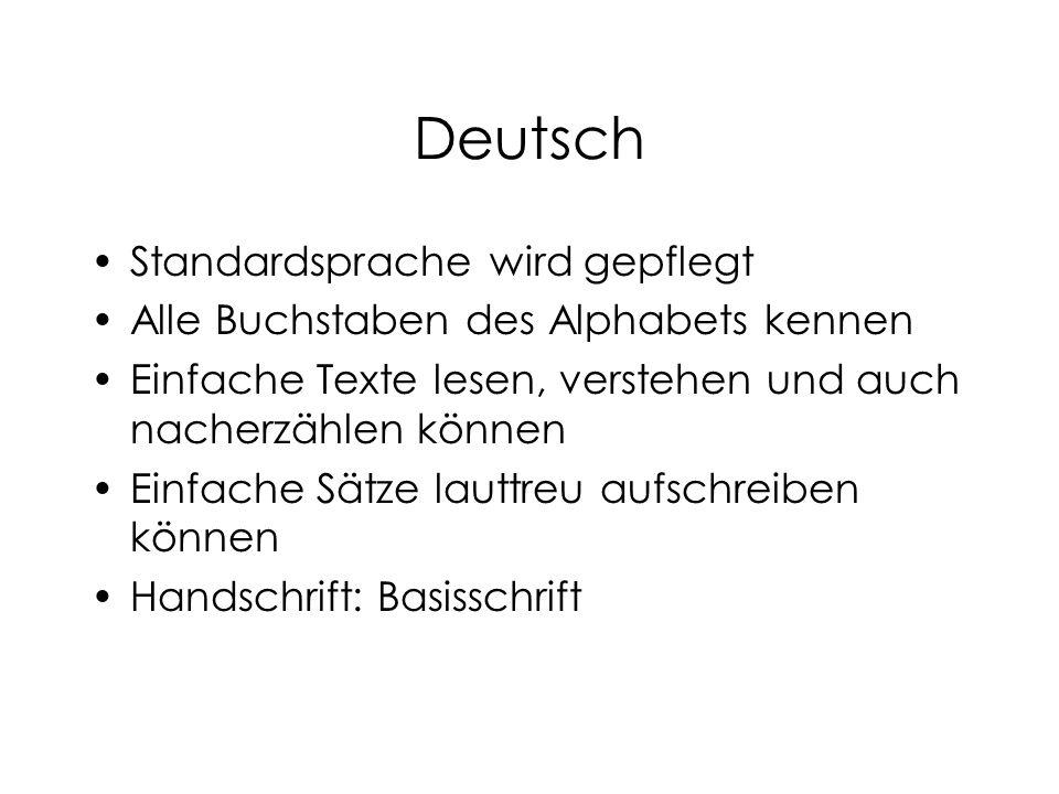 Deutsch Standardsprache wird gepflegt