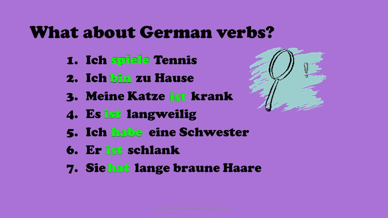 What about German verbs