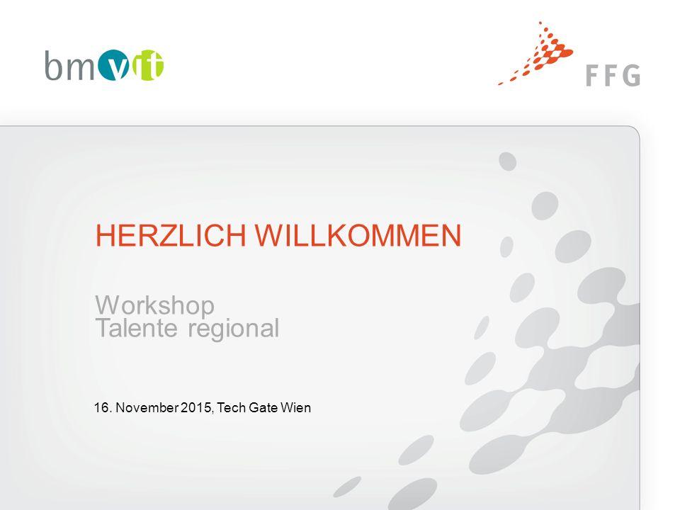 HERZLICH WILLKOMMEN Workshop Talente regional