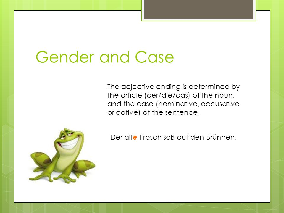 Gender and Case