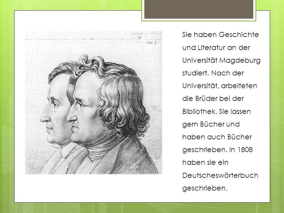Sie haben Geschichte und Literatur an der Universität Magdeburg studiert.