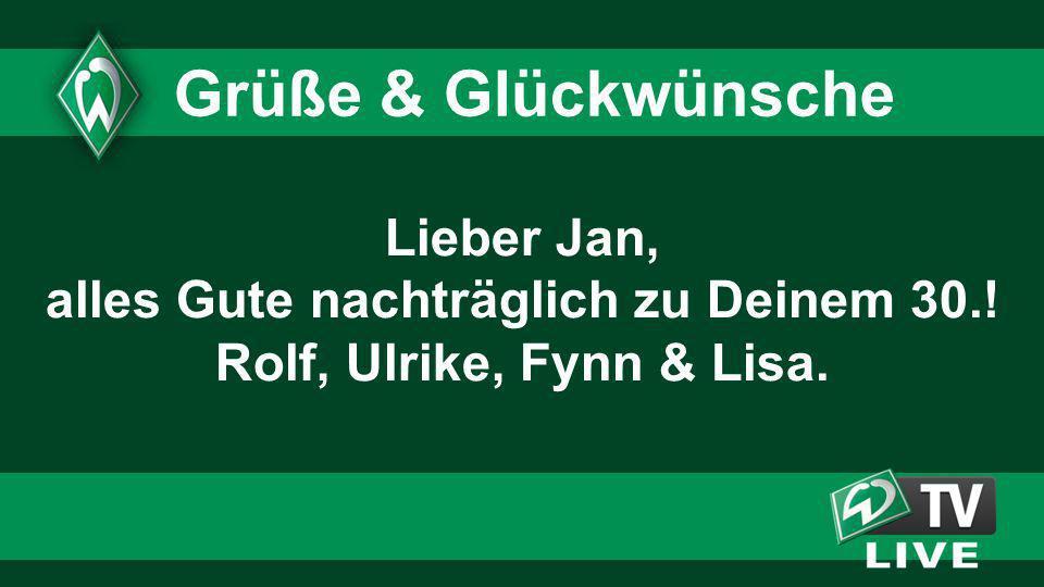 2020 2020. Grüße & Glückwünsche. Lieber Jan, alles Gute nachträglich zu Deinem 30.! Rolf, Ulrike, Fynn & Lisa.
