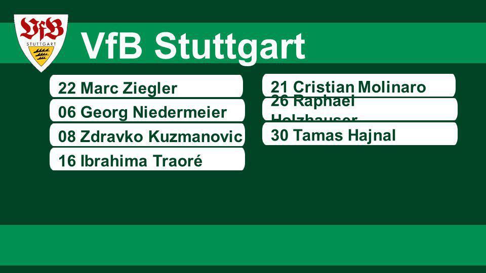 VfB Stuttgart 22 Marc Ziegler 21 Cristian Molinaro