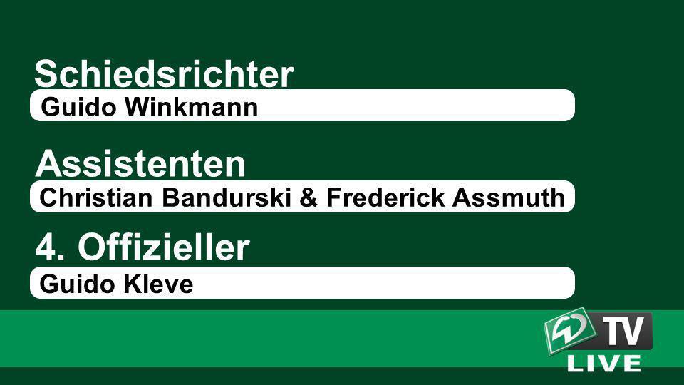 Schiedsrichter Assistenten 4. Offizieller Guido Winkmann