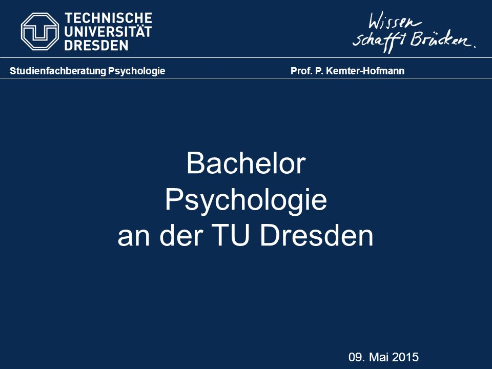 Bachelor Psychologie an der TU Dresden