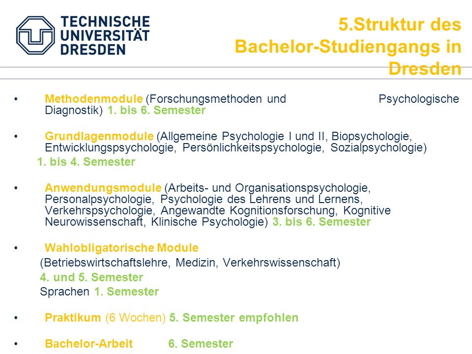 Bachelor-Studiengangs in Dresden