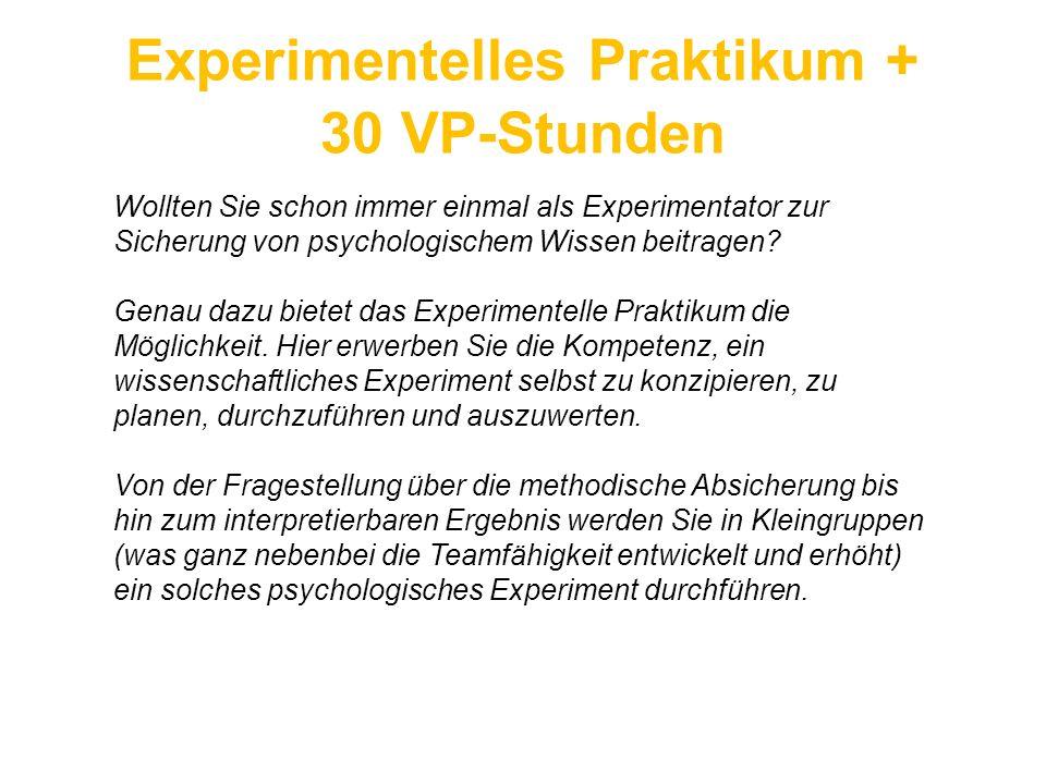 Experimentelles Praktikum +