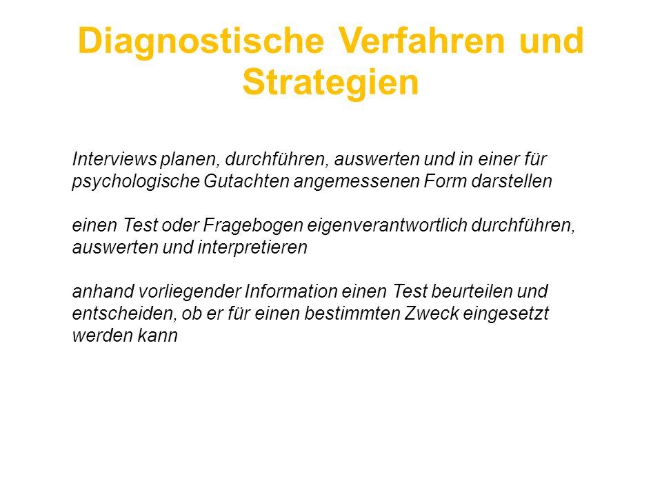 Diagnostische Verfahren und Strategien