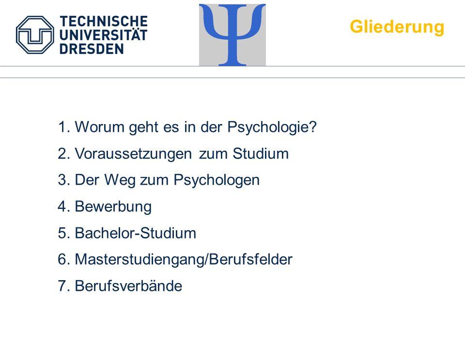 Gliederung 1. Worum geht es in der Psychologie