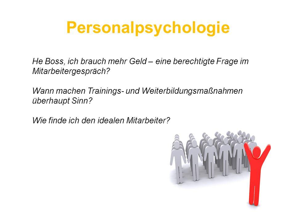 Personalpsychologie He Boss, ich brauch mehr Geld – eine berechtigte Frage im Mitarbeitergespräch