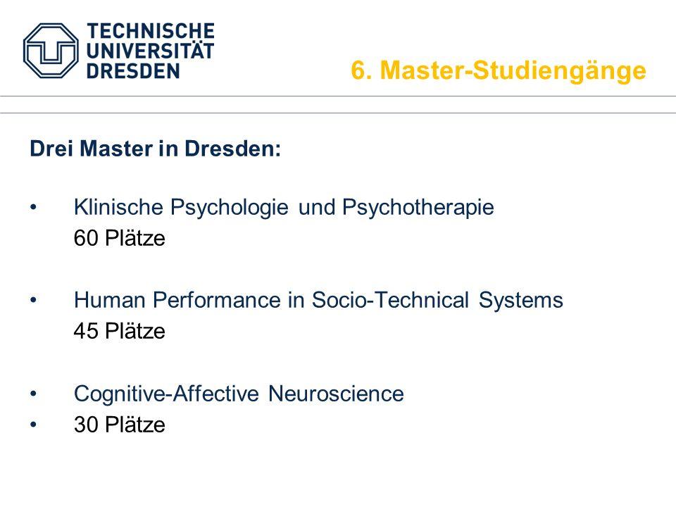 6. Master-Studiengänge Drei Master in Dresden: