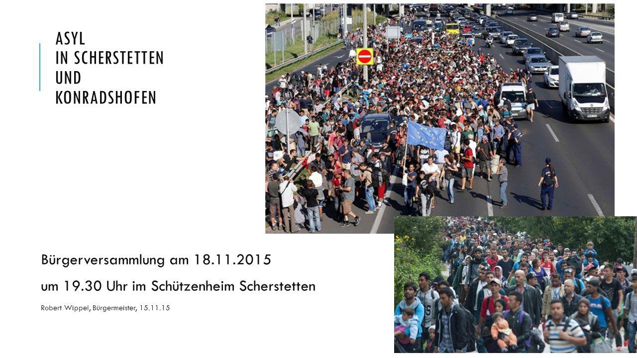 ASYL in Scherstetten und Konradshofen Bürgerversammlung am 18.11.2015