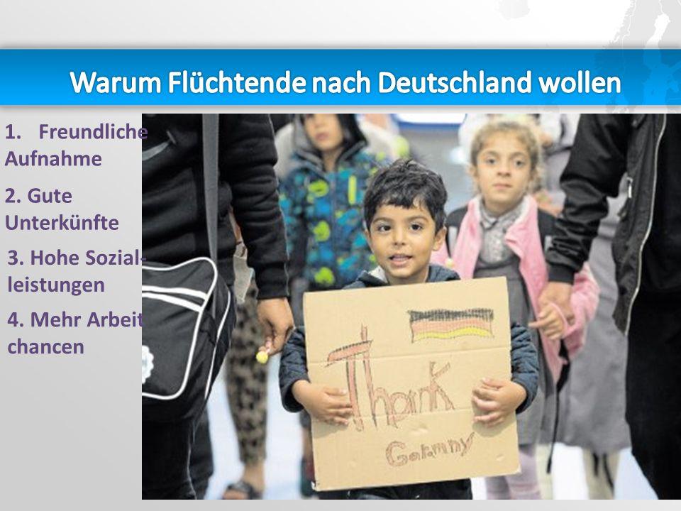 Warum Flüchtende nach Deutschland wollen