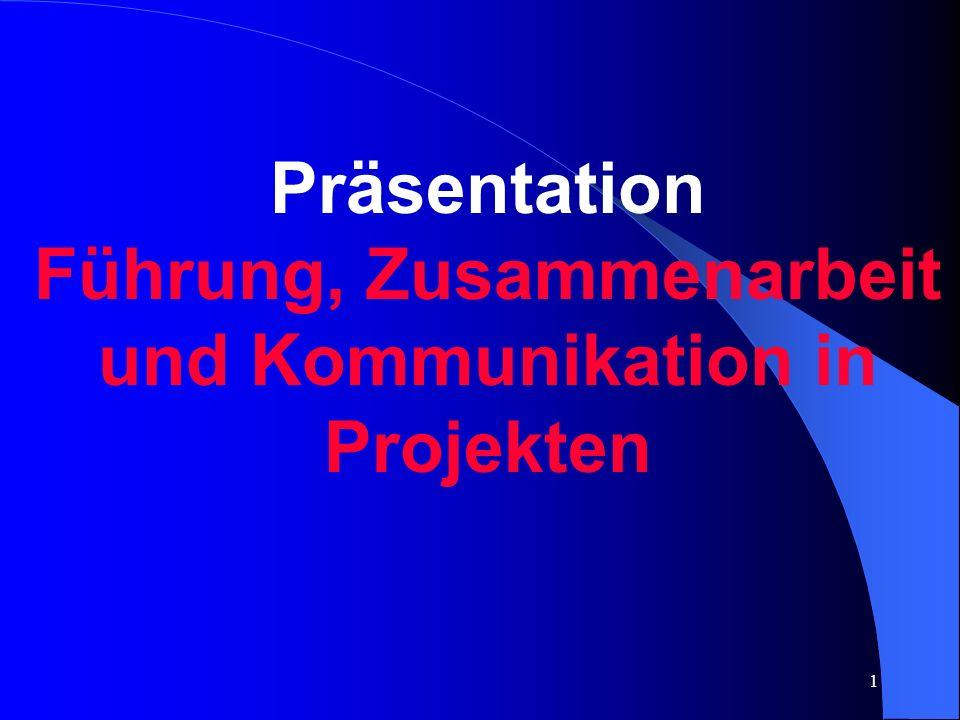 Führung, Zusammenarbeit und Kommunikation in Projekten