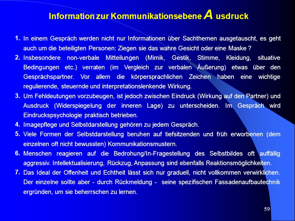 Information zur Kommunikationsebene A usdruck
