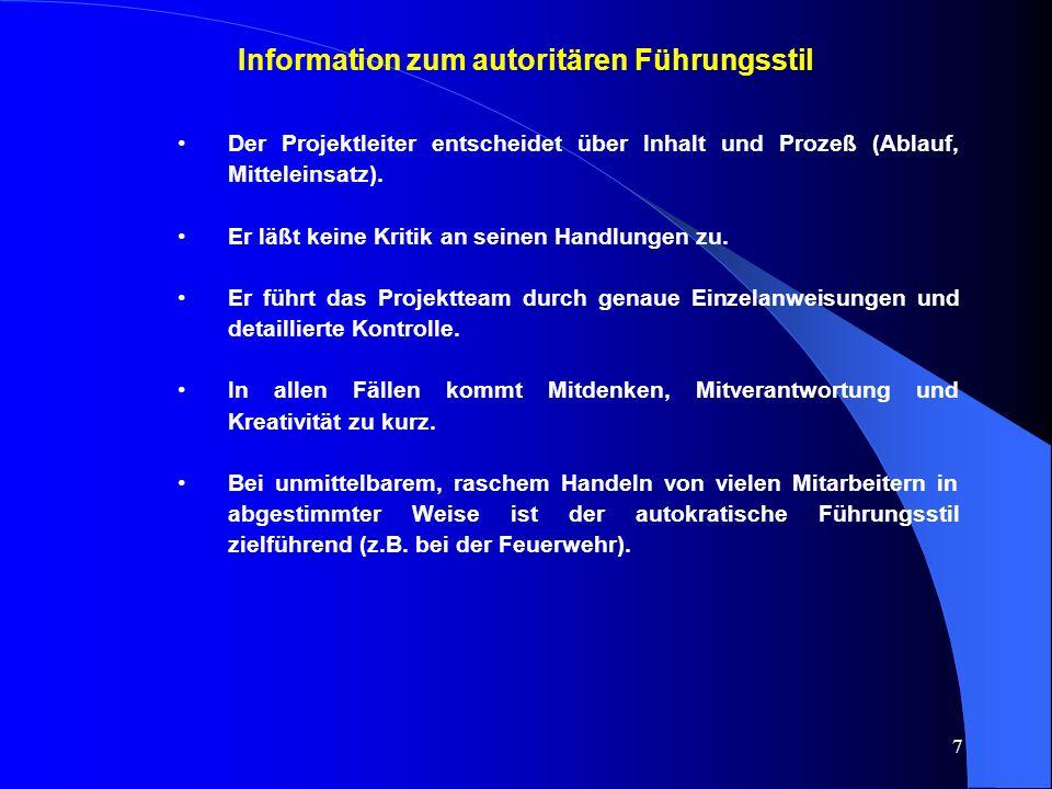 Information zum autoritären Führungsstil