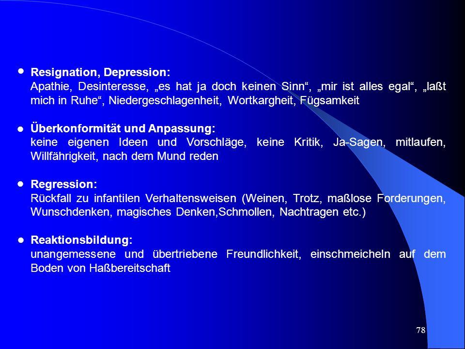Resignation, Depression:
