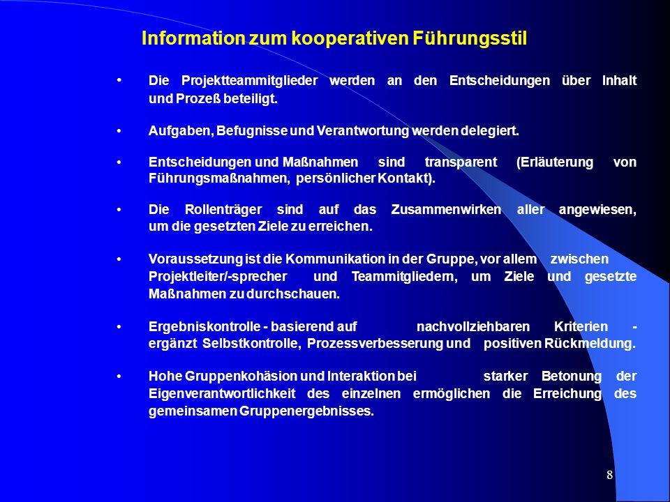 Information zum kooperativen Führungsstil
