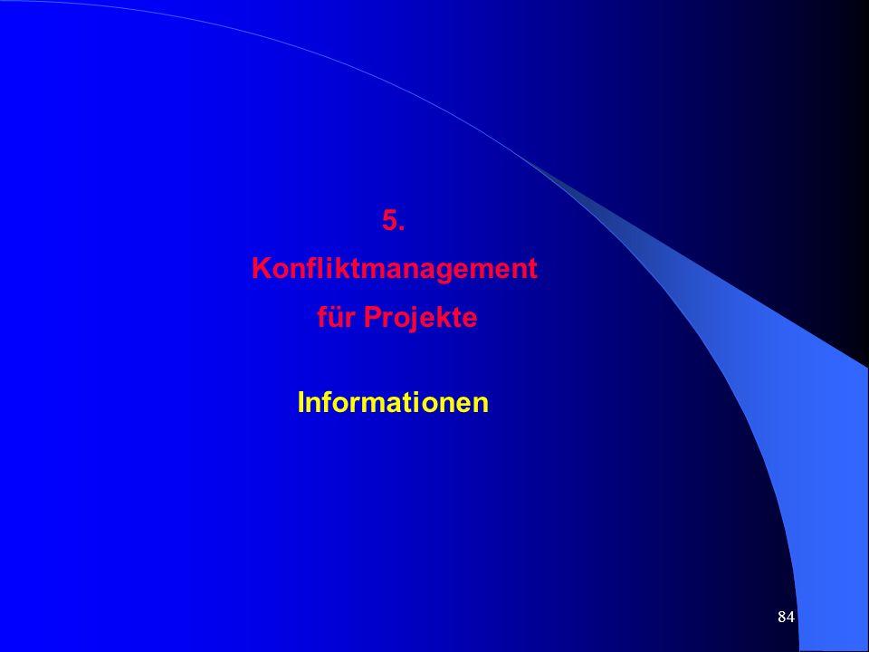 5. Konfliktmanagement für Projekte Informationen