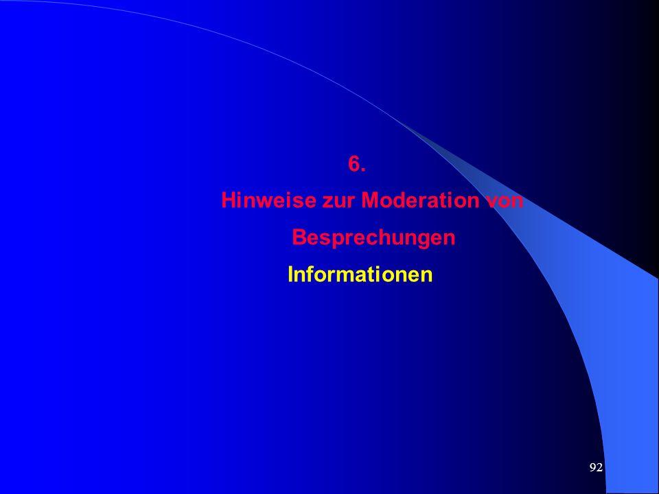 Hinweise zur Moderation von Besprechungen