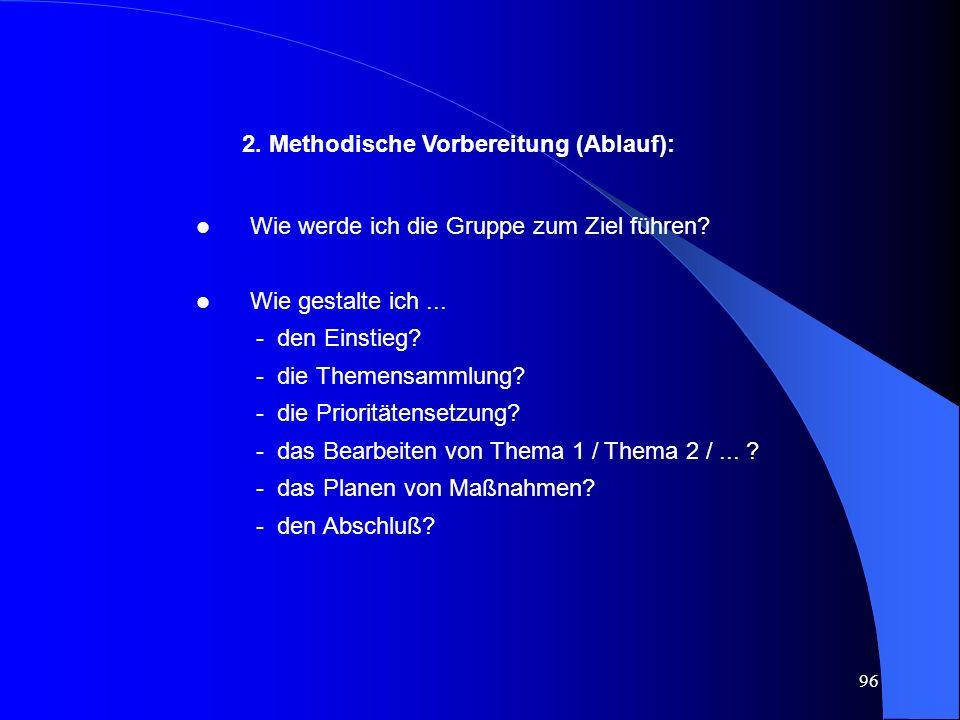 2. Methodische Vorbereitung (Ablauf):