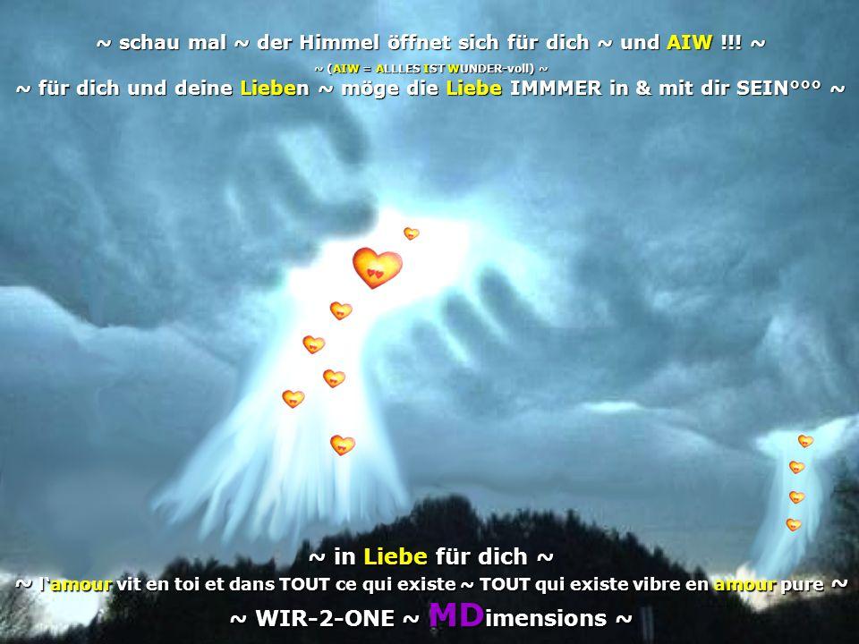 ~ schau mal ~ der Himmel öffnet sich für dich ~ und AIW