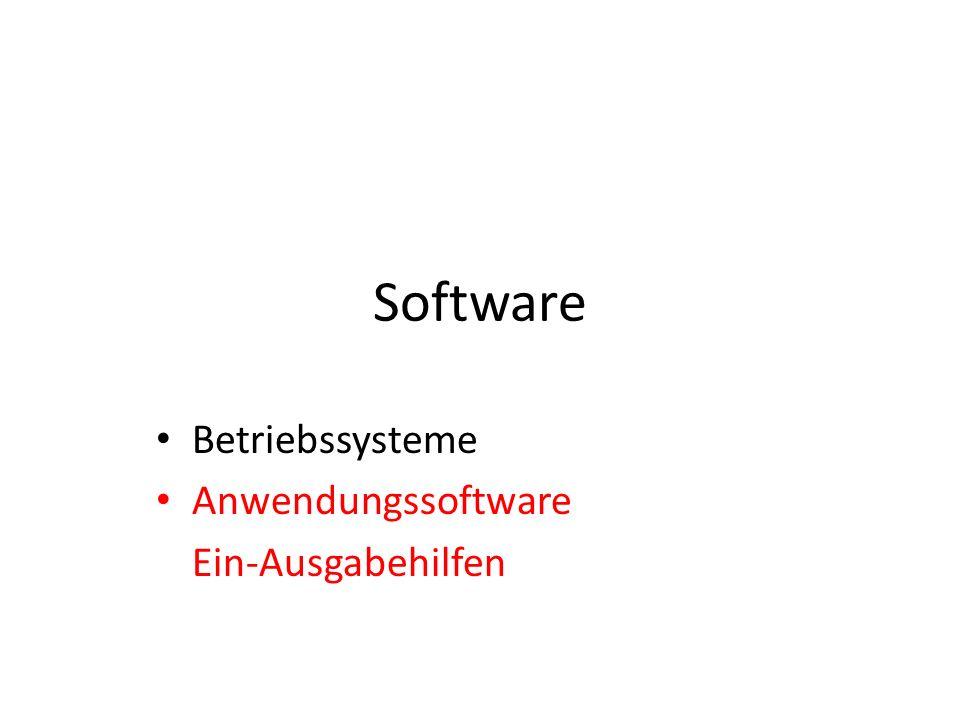 Betriebssysteme Anwendungssoftware Ein-Ausgabehilfen