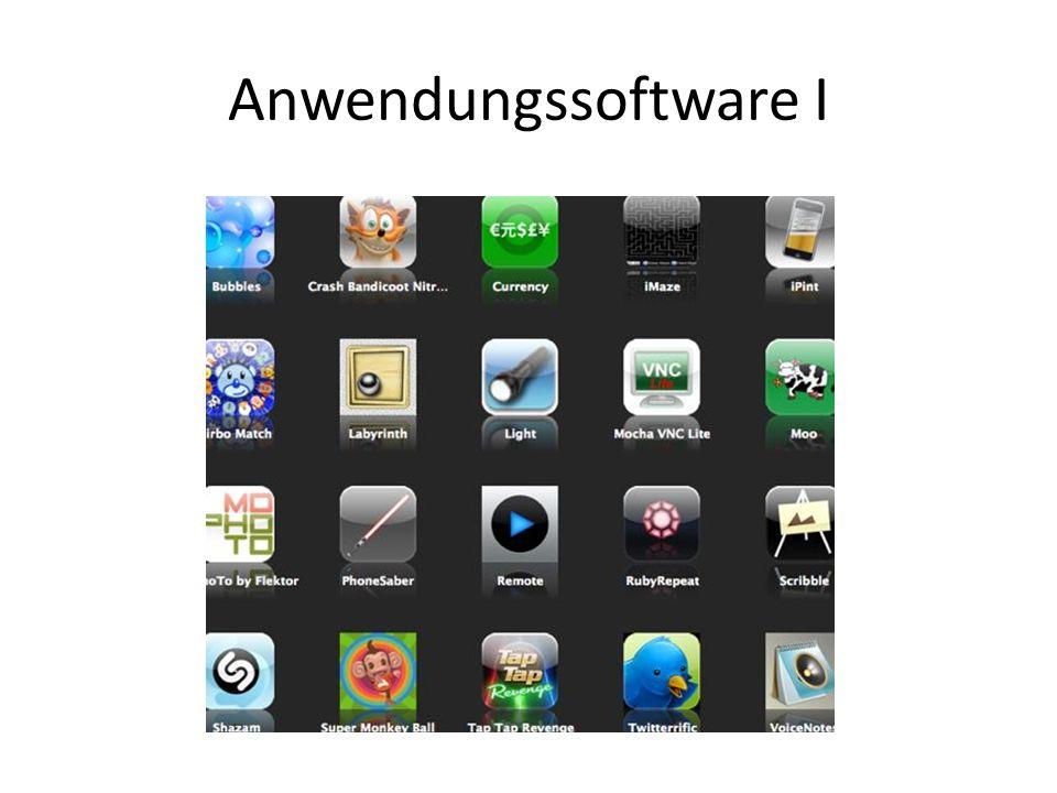 Anwendungssoftware I
