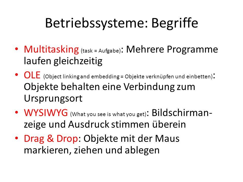 Betriebssysteme: Begriffe