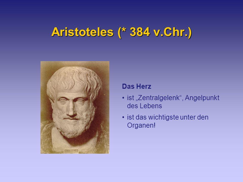 Aristoteles (* 384 v.Chr.) Das Herz