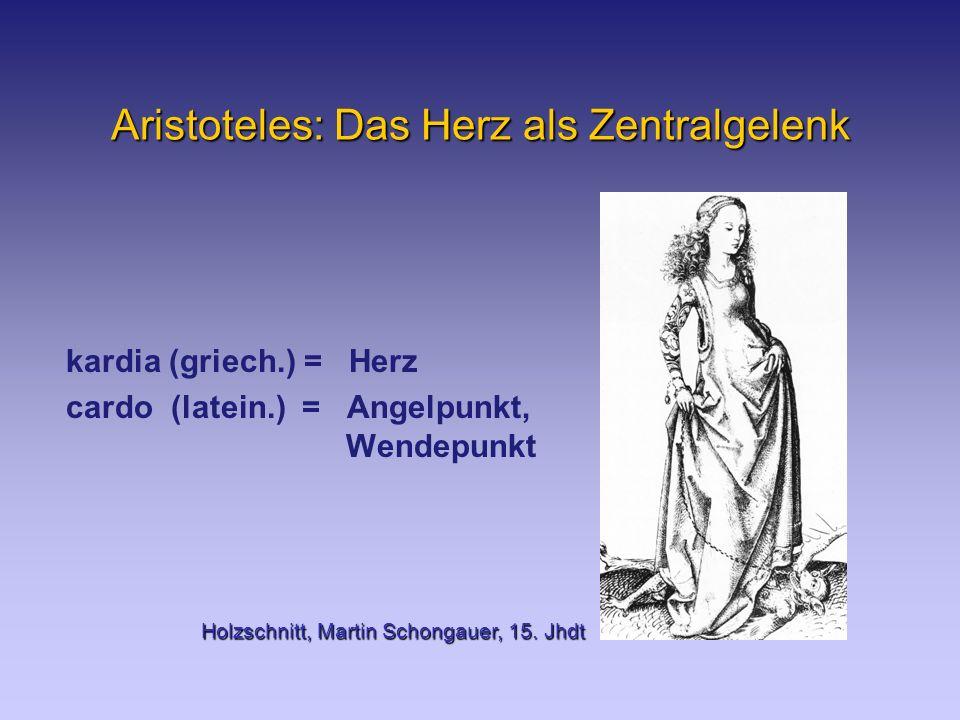 Aristoteles: Das Herz als Zentralgelenk