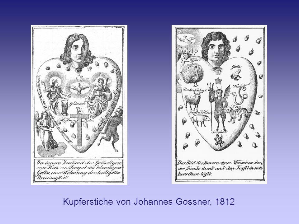 Kupferstiche von Johannes Gossner, 1812