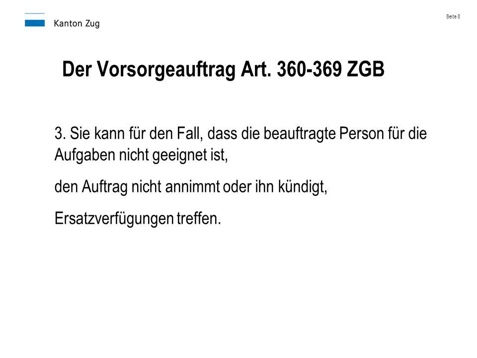 Der Vorsorgeauftrag Art. 360-369 ZGB