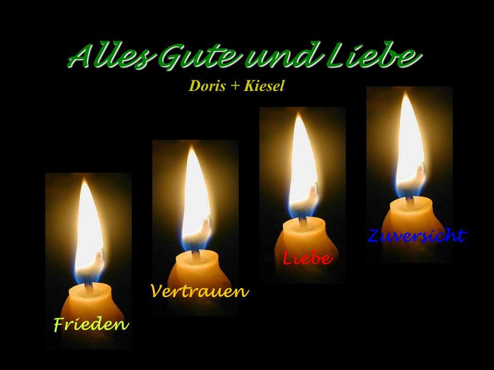 Alles Gute und Liebe Doris + Kiesel Zuversicht Liebe Vertrauen Frieden