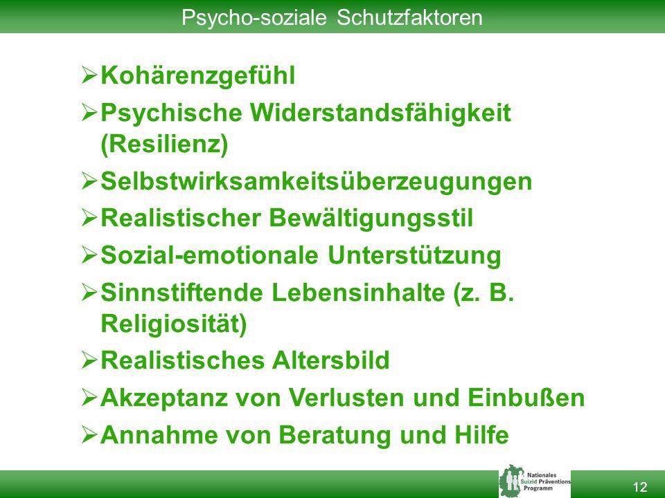 Psycho-soziale Schutzfaktoren