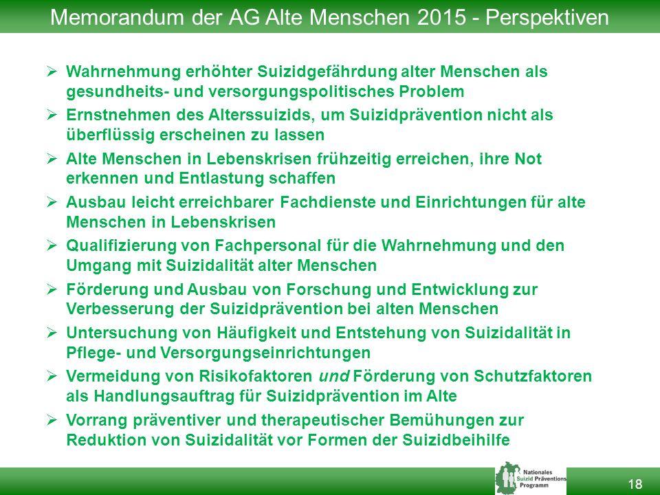 Memorandum der AG Alte Menschen 2015 - Perspektiven