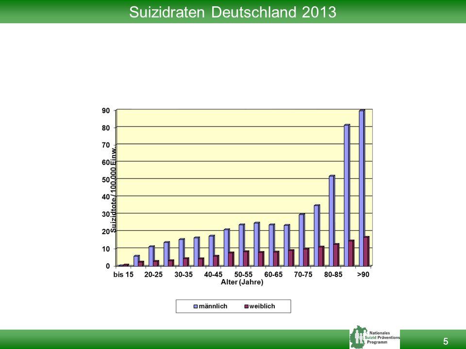 Suizidraten Deutschland 2013