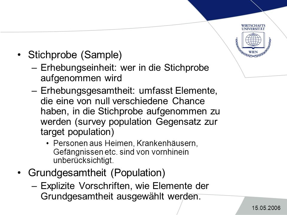Grundgesamtheit (Population)