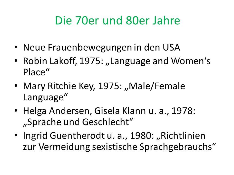 Die 70er und 80er Jahre Neue Frauenbewegungen in den USA