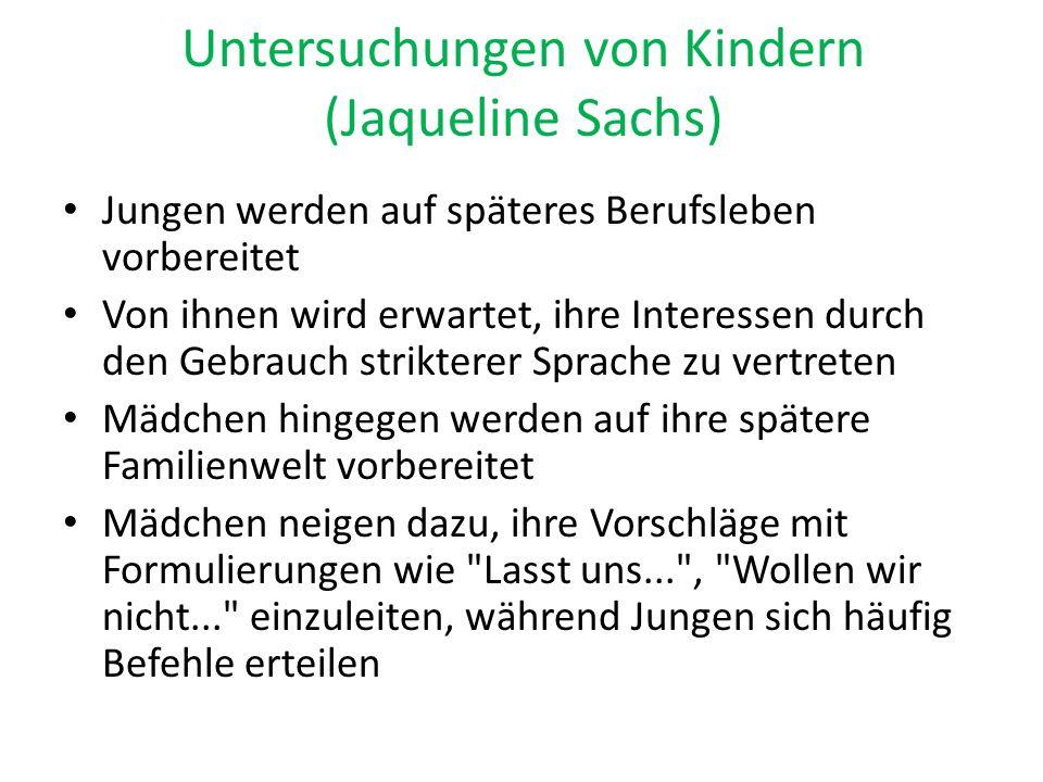 Untersuchungen von Kindern (Jaqueline Sachs)