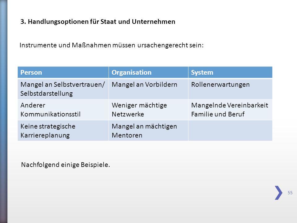 3. Handlungsoptionen für Staat und Unternehmen