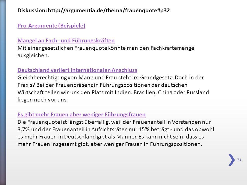 Diskussion: http://argumentia.de/thema/frauenquote#p32